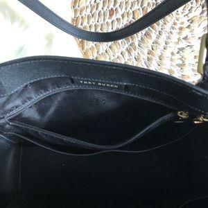 Tory Burch Bags - tory burch • emerson black tote bag